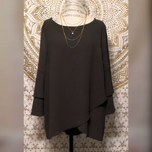 Apt.9 Layered Blouse with Bell Sleeves